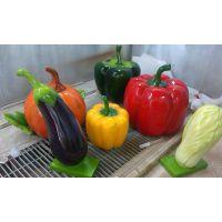 山东鼎艺雕塑供应寿光玻璃钢蔬菜雕塑摆件 瓜果植物工艺品