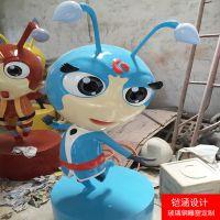 【铠涵工艺品】蚂蚁摆件-玻璃钢蚂蚁雕塑-商场美陈装饰雕塑