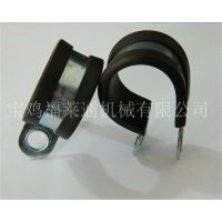 福莱通固定式卡箍 橡胶垫卡箍 橡胶减震管夹 带胶喉箍厂家直销
