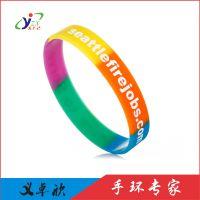 外贸爆款分段硅胶手环品牌宣传赠品礼品橡胶手链多色义卓欣硅胶手腕带