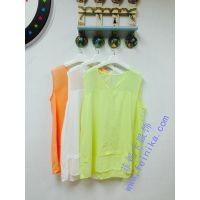 白山 浑江春夏季上新款了便宜雪纺T恤衫批发的纯色打底衫批发