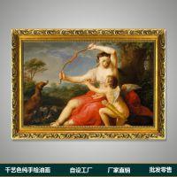【商家热卖】纯手绘油画唯美人物客厅大堂卧室挂画货源批发正品12