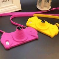 新款可折叠照相机硅胶手机壳 多功能伸缩支架相机手机保护套