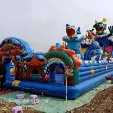 山东烟台铠甲勇士新款充气滑梯 20年老厂大品牌儿童充气玩具 心悦PVC冲气包蹦床特价