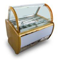 安德利F4冰淇淋展示柜 金色冰淇淋柜