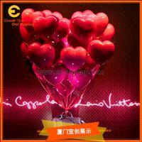 宜创橱窗爱心热气球展示道具 玻璃钢爱心热气球 情人节高端定制气球