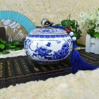 创意陶瓷工艺品厂家直销青花瓷骨瓷茶叶罐定制专版可logo
