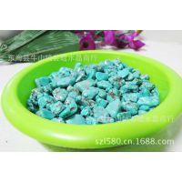 厂家批发供应绿松石碎石及各种水晶碎石大小可定做