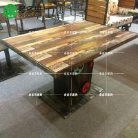 复古主题餐厅桌椅板凳 美式乡村咖啡厅酒吧桌椅 多多乐家具供应