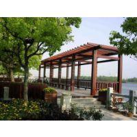 湖北武汉葡萄架,花架,廊架,防腐木碳化木质葡萄架,定制落地式立柱架,仿古凉亭架