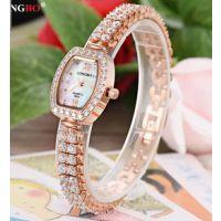 型号:6041 龙波正品珠宝镶钻女士手表石英防水满钻手链表时尚手表女