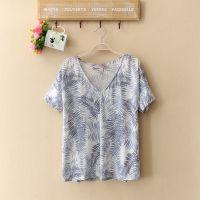 外贸原单休闲女装T恤夏季新款打底衫棉麻混纺短袖蝙蝠衫12D847A