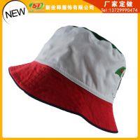 欧美拼色红白经典款式男女旅游帽宽边小雨伞情侣帽 户外渔夫帽