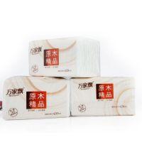 万家飘(原木精品)抽取软抽家用 饭店面巾纸 抽纸生活用纸餐巾纸