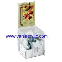厂家提供透明亚克力收纳盒子 透明盒子塑胶批发