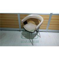 扶手家用客厅椅子 餐厅桌椅定制 简约现代金属椅 高档餐厅仿木椅