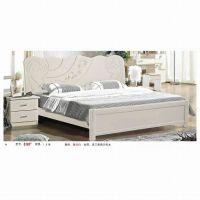 2015年爆款板式家具床 新西兰松木床 1、8米象牙白休闲床批发