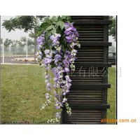 【紫藤花卉】批发供应仿真紫藤花 人造植物 假紫藤树 仿真豆花