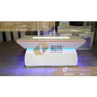 中国银行弧形发光体验台批发,银行体验台定做