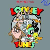 广州中大流行女装卡通动漫T恤印花 兔八哥头像大嘴怪达菲鸭柯式烫画图