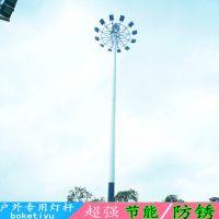三角镇LED球场照明灯杆灯光设计 供应篮球场高杆灯常用8米标准配置