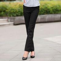 2016春季新款黑色直筒长裤职业西裤TRUMPMAN棉类混纺批发