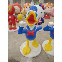 树脂工艺品迪士尼唐老鸭米奇,玻璃钢工艺品公园装饰品