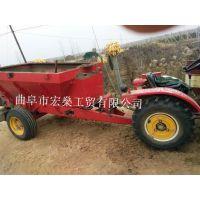 大型粪肥撒肥机械 拖拉机牵引式农家肥撒肥车