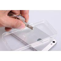 透明IPhone5/5S手机壳 苹果4/4s带防尘TPU亚克力清水套二合一