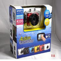 新款运动数码防水摄像机 高清720p 头戴式运动DV 车载迷你相机