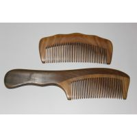 批发绿檀实木梳子 长短柄两种选择  整根料子打磨入水即沉