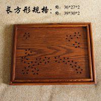 批发出口欧标免检日式方形木托盘、茶盘、果盘 樱花图案餐具盘二