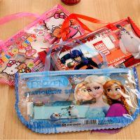 迪士尼/frozen/Bighero/文具套装 6.1儿童礼品 手提透明笔袋礼品