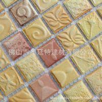 奥廷特陶瓷马赛克背景墙 贝壳雕刻 室内外装饰瓷砖 特价批发零售