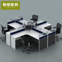 上海办公家具多人办公桌 简约现代员工桌屏风工作位4人职员卡座