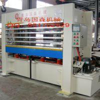 供应青岛国森机械专业制造高精度复合板基质贴面压机设备
