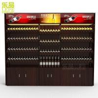供应深圳乐品新款精品超市便利店红酒柜木质展示柜厂家直销