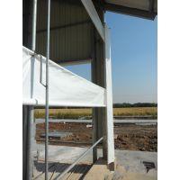 自产油布卷帘价格白色透光窗帘布加工产业用布 自供大小猪场卷帘帆布