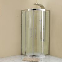 新款全304不锈钢简易淋浴房干湿分区厂家直销