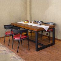 美式乡村复古实木桌子 创意多功能酒店员工餐厅餐饮468人桌椅组合,扬韬!