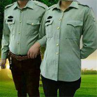 军绿衬衣 部队衬衫 跑江湖军绿衬衫 2015年地摊新品军用衬衫