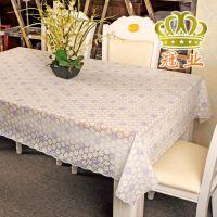 批发酒店餐桌塑料餐桌透明PVC防油烫金防水防烫高档方形出口桌布