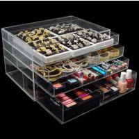 亚克力化妆品收纳盒 首饰盒  亚克力收纳 桌面 透明抽屉式 饰品盒