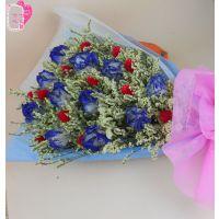 批发云南干花束天然情人节白色玫瑰花束仿真花创意礼品批发地摊花