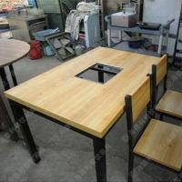 新品热卖 白橡木连体快餐桌椅肯德基餐桌椅 多人位餐桌