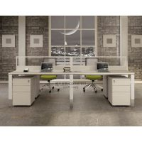 西安办公桌 西安办公家具定制 雅凡办公家具钢木组合职员桌