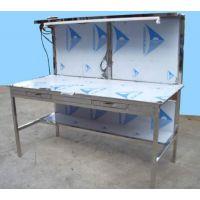 不锈钢工作台规格 不锈钢作业台(图) 不锈钢工作台带柜