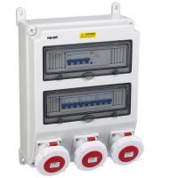 三相四线单项组合式配电箱防水插座箱挂墙式PC阻燃电控箱成套箱