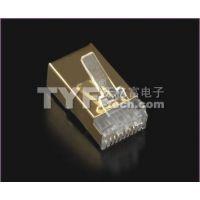 厂家直供七类屏蔽rj45水晶头  镀金