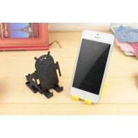 iphone6小米2苹果4S三星手机架子迷你安卓机器人电影视频懒人支架